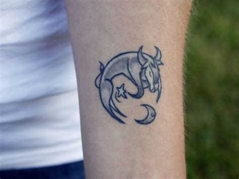 small taurus tattoo small shaded taurus