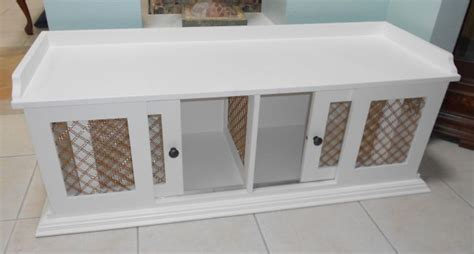dog crate bench seat custom wood dog crate note mesh between compartments