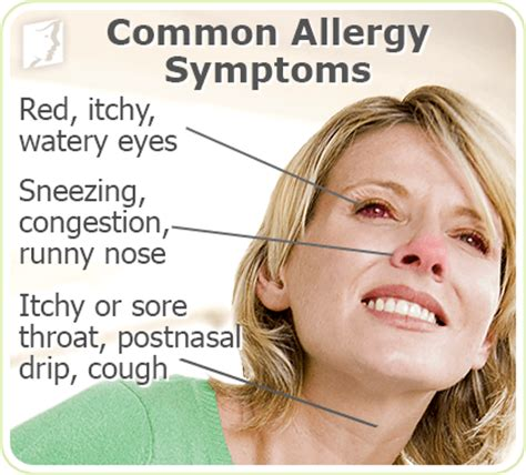 allergy symptoms allergies symptom information 34 menopause symptoms