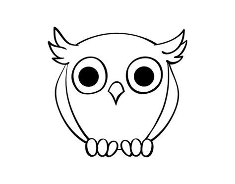 imagenes faciles para dibujar de buhos dibujo de b 250 ho nocturno para colorear dibujos net