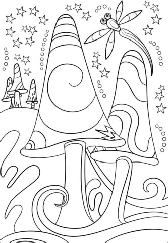 Trippy Coloring Pages Mushrooms by Trippy Shrooms Coloring Page Free Printable Coloring Pages
