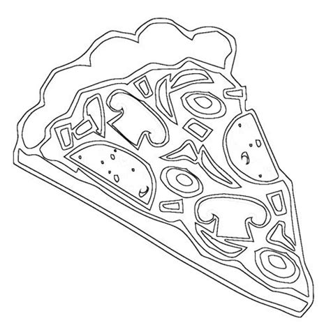 pizza slice coloring page coloring pages
