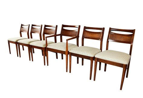 Mid Century Modern Six Walnut Dining Chairs American Of Mid Century Modern Furniture Dc
