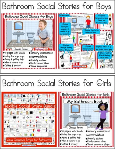 bathroom social story bathroom social stories boys or girls your therapy source