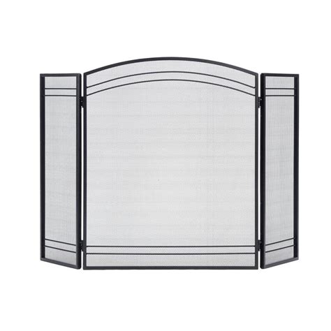 shelterlogic classic black 3 panel fireplace screen 90393