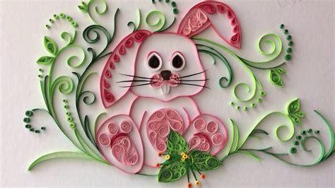 quilling rabbit paper