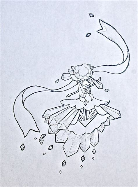 pokemon coloring pages mega diancie mega diancie by xxd17 on deviantart