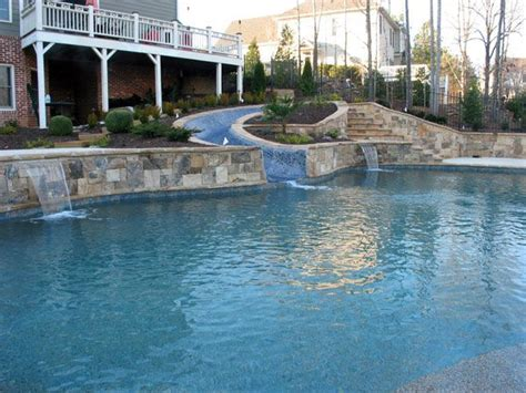 24 Best Images About Pools On Pinterest Tiered Landscape House Plans With Walkout Basement And Pool