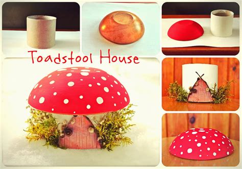 house crafts for twig and toadstool toadstool house