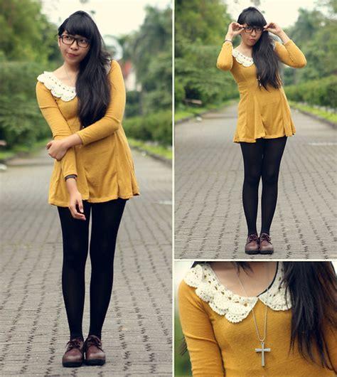 Dress Yunita yunita elisabeth unbranded mustard dress thrift store