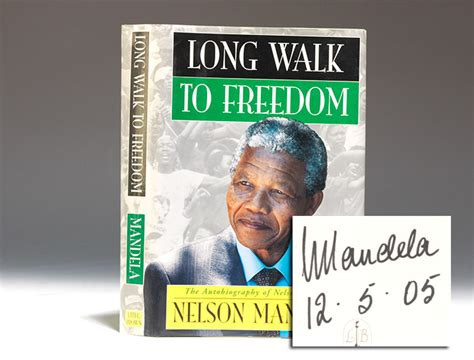 the biography of nelson mandela book long walk to freedom first edition signed nelson
