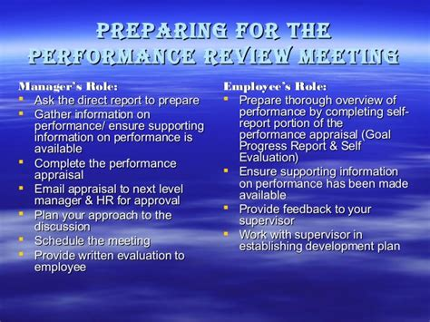 7 Tips On Preparing For Your Performance Review by Performance Appraisal Report