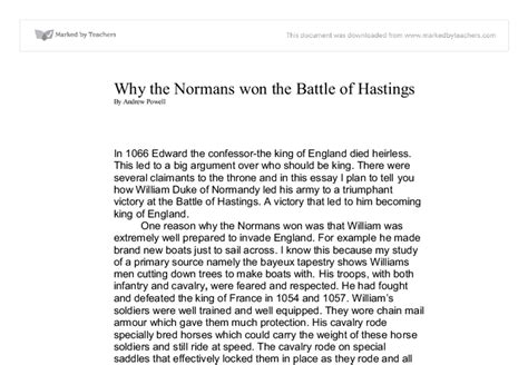 excellent ideas for creating battle of hastings essay