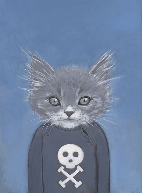 heather mattoon cats  clothes paintings