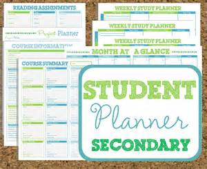 instant download student planner secondary study