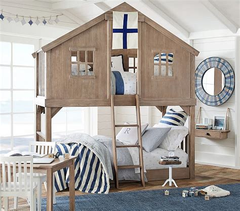 pottery barn kids twin bed tree house twin over twin bunk bed pottery barn kids