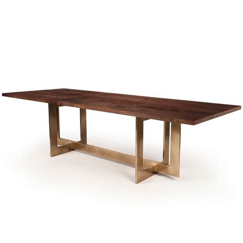 hudson industrial table l hudson furniture dining tables bronze highline table