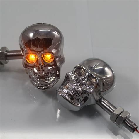 custom motorcycle turn signal lights skull turn signal lights indicators for harley crusier