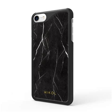 nero marquina marble iphone case mikol