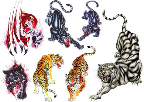 traditional tiger tattoo designs collection of 25 tiger set