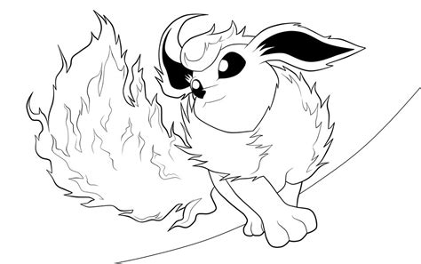 Flareon Lineart By Moxie2d On Deviantart Flareon Coloring Pages