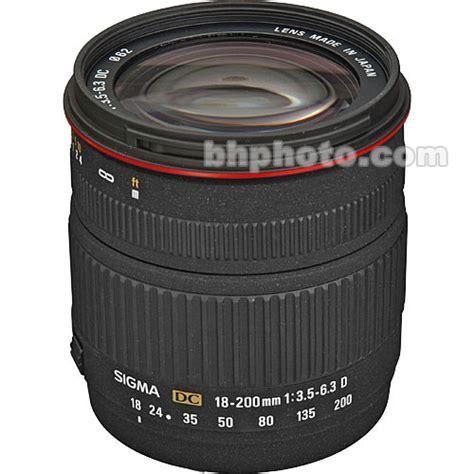 Sigma Lensa 18 200mm F 3 5 6 3 Dc Macro Os Hsm C For Nikon sigma 18 200mm f 3 5 6 3 dc lens for digital slr 777205 b h
