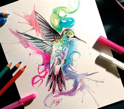 50 Inspiring Color Pencil Drawings Of Animals By Katy Colored Drawings