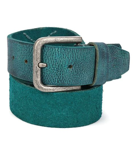 breakbounce turquoise leather belt buy at low