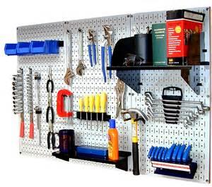 wall standard workbench metal pegboard tool