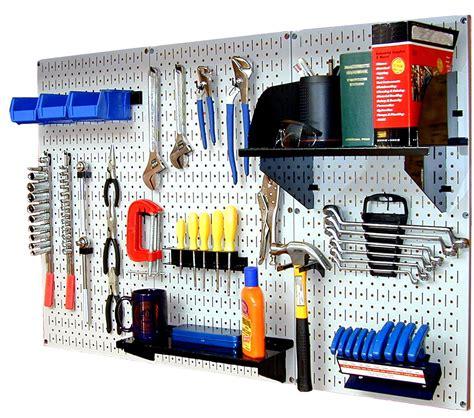 tool bench organization wall control standard workbench metal pegboard tool