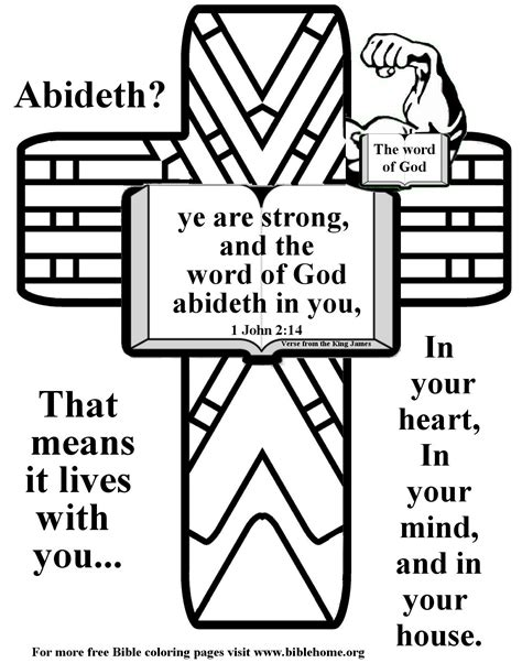 Coloring Page Bible by Free Coloring Pages Of Bible Verse For