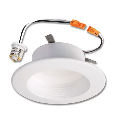 led recessed ceiling lights home depot halo rl 4 in white integrated led recessed ceiling light
