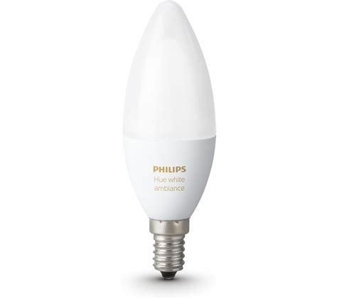 Wireless Led Light Bulbs Philips Hue White Ambience Wireless Bulb E14 Deals Pc World