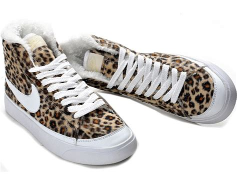 nike sb blazer high leopard shoes