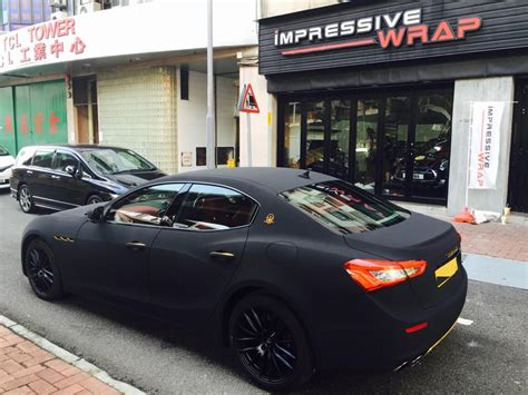 maserati ghibli wrapped maserati ghibli wrapped in matte black suede