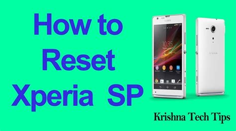 format video xperia sp how to hard reset sony xperia sp c5303 simple methods to