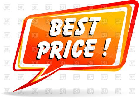 best price speech with wording best price royalty free vector