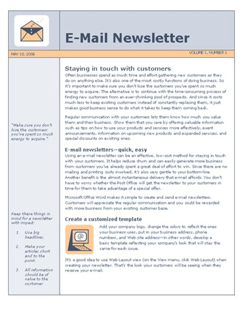 Presodathis Newsletter Templates For Word E Newsletter Templates Microsoft
