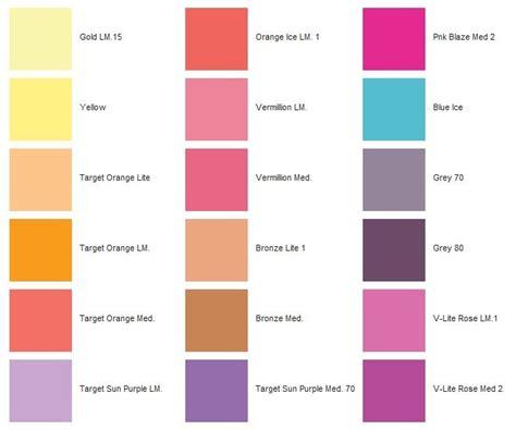 colori tavola scegliere il giusto colore filtro occhiali da tiro
