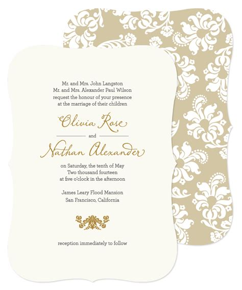 Hochzeitseinladungen Muster by Marriage Invitation Sle Wedding Invitation