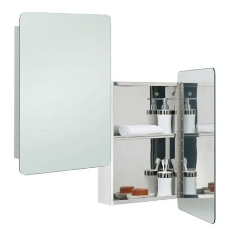 hinged bathroom mirror rak uno stainless steel 460 x 660mm hinged single door