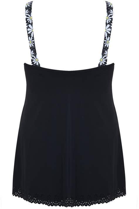Cut Out Back Swim Dress black print cut out detail swimdress with tummy