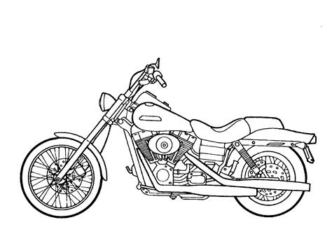 Motorcycle Coloring Pages Free Printable | free printable motorcycle coloring pages for kids