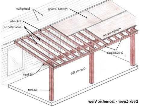 free patio cover design plans covered patio plans free