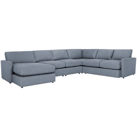 gray fabric sectional with chaise city furniture noah gray fabric large left chaise
