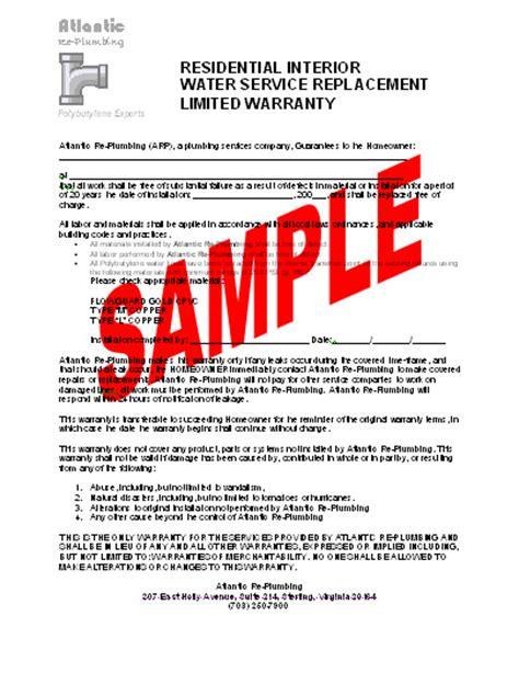 Home Warranty Plumbing by Atlantic Replumbing Warranty