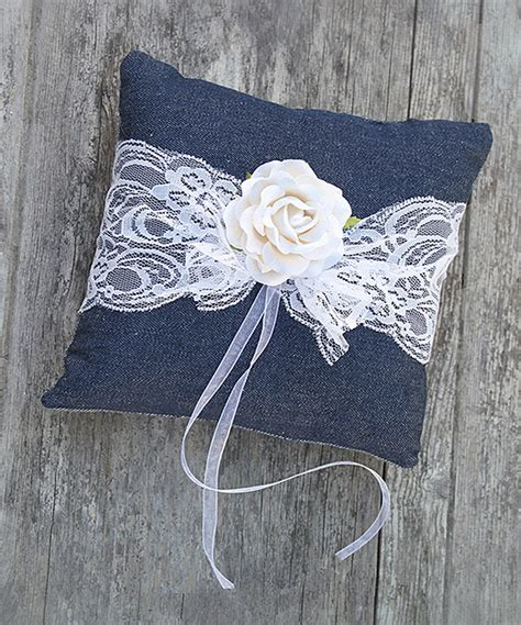 this diy denim lace ring bearer pillow kit by luxe