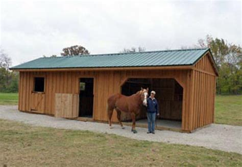 Two Stall Horse Barn Two Stall Horse Barn Portable Rachael Edwards