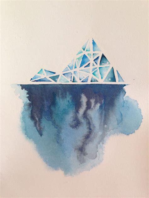 watercolor crayon tattoos iceberg series the beneath original watercolor