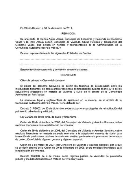convenio de colaboracin decreto 268 2011 de 20 de diciembre de colaboracin